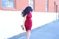 ASOS twist side cutout bodycon dress