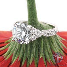 5.21ct Round Brilliant Cut Diamond Engagement Ring SKU: 3828-1