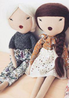 Handmade Dolls Wearing Liberty of London | lespetitesmainss on Etsy