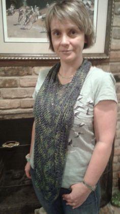 Crafty escapism: Silk scarf Ravelry pattern Eva's Scarf by Milibo