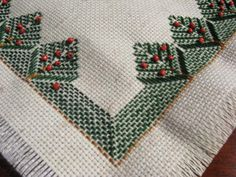 Free Swedish Huck Weaving | Huck Embroidary - IndusLadies
