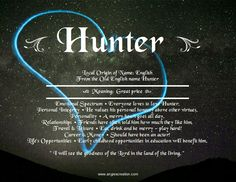 What does the name hunter mean for a girl