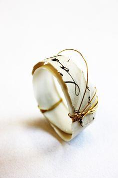 cheryl.ewing.ceramics  ceramic and paper ring