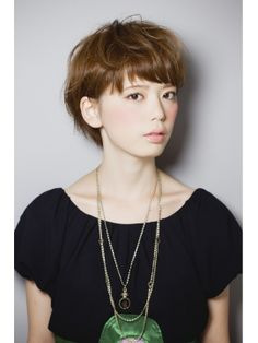 #japanese #hairstyle #bangs #short #summer