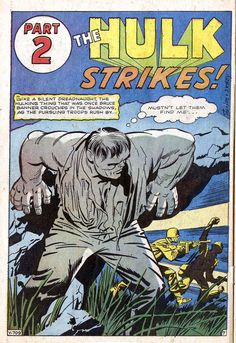 How incredibly cool is this? Jack Kirby's original Hulk before they discovered gamma rays were green!