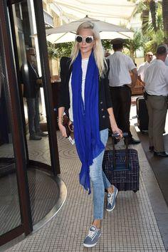 Poppy Delevingne lors de son arrivée à Cannes