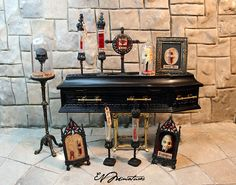 Miniature Vampire Blood Relic in Gothic Frame by evminiatures, $45.00