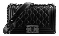 Chanel All Black Boy Quilted Flap Bag Price 3 700 Usd Love