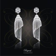 begani Jewels. Lovely diamond chandelier earrings.