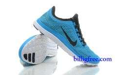 Billig Schuhe Herren Nike Free 3.0 V5 (Farbe:Vamp-blau;Sohle-weiB,innenundLogo-schwarz) Online Laden.