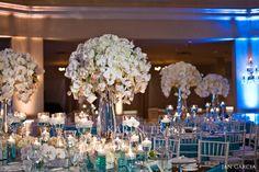 Amazing floral centerpieces by Karen Tran - Beautiful!