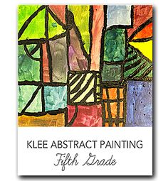 Paul Klee acrylic abstract art project from Art School for Kids