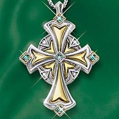 Irish Blessing Celtic Cross Pendant Jewelry  $129.00 #pintowinGifts & @giftsdotcom