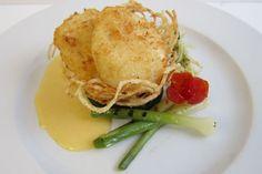 Crunchy parmesan coated poached egg