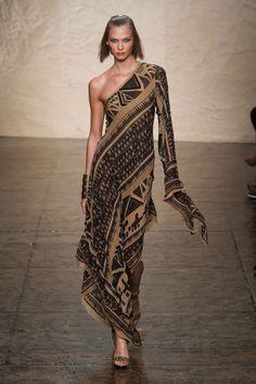 Défile #DonnaKaran New York Prêt-à-porter Printemps-été 2014 - Look 32 #African print