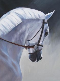 The Mane Painting by Janet Crawford