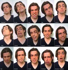 Taí um cara bem expressivo, mas entre tantas expressões faltou só a cara de normal