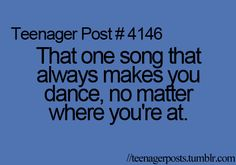 "I have many of ""those songs"""