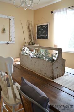 Toolbox in Dining Room