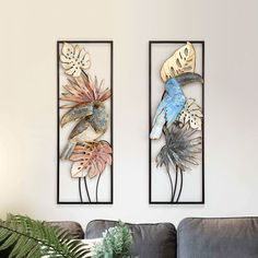 Cheap Wall Stickers, Wall Stickers Murals, Wall Murals, Metal Art Projects, Furniture Projects, Wall Hanging Crafts, Flower Bird, Ornament Crafts, Iron Wall