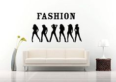 Wall Vinyl Sticker Decals Mural Room Design Pattern The Fashion Models Quote Style bo509