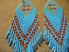 light blue brick stitched Native American inspired by DebsVisions, $36.00