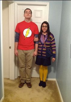 The Big Bang Theory's: Sheldon and Amy. Simple, but fun Halloween couples costume.