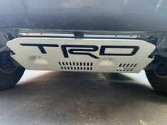 BDTrims Domed 3D Raised Letters Compatible with TRD Skid Plate 2016-2020 Tacoma and 2019-2020 4Runner Models Red Carbon