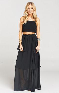 a30ca939a75 Karla Convertible Skirt Dress ~ Black Chiffon. Karla Convertible Skirt Dress  ~ Black Chiffon