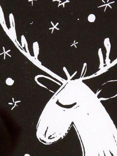 "Items similar to original Linocut Deer portrait, linoleum block print - x 9 "" wall art - nursery art- children art on Etsy Linocut Prints, Art Prints, New Year Art, Handmade Stamps, Linoprint, Tampons, Xmas Crafts, Christmas Art, Making Ideas"