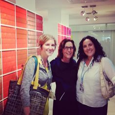 with Suzanne Tick learning about her new Teknion Textiles #neocon13 #neoconography #interiordesign #textiles
