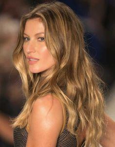 Gisele Bundchen -luzesTortoiseshell hair ou luzes efeito tartaruga -2