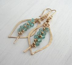 Apatite Petite Tusk Hoops - Move use of those beautiful leaf frames. Got to perfect the making of those.