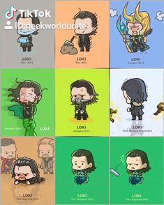 Loki Timeline 😍 - My glorious king❤️ - Marvel Marvel Avengers, Marvel Comics, Funny Marvel Memes, Marvel Jokes, Marvel Art, Marvel Heroes, Baby Avengers, Star Wars Comics, Loki Thor