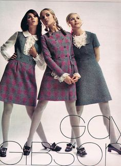 August 1968 Seventeen magazine.  Colleen Corby, Cay Sanderson and Sally Gates.