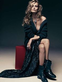 Edita Vilkeviciute Vogue Germany Upgrades Badass Looks #punk #fashion trendhunter.com