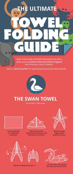 Make laundry day a bit more interesting — How to fold towel animals [6 pictures]