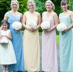 Pastel tones are always a great idea ❤ style 6646 by #dessygroup.#bridalparty #bridal #bride #bridesmaids #bridesmaidsdresses #patsbridals #bridesmaiddress #wedding #miamiwedding #miamibride