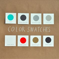 I like all these colors. shanna murray decal color swatches via Design Sponge