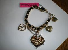 Betsey Johnson Leopard Heart Bracelet
