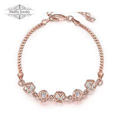 Schicken Mehr Charme Armbänder Information über Cube Perlen Design Armband…