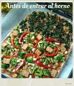 Embellecethe: Pizza Vegana ~ Masa de Trigo Sarraceno y Avena