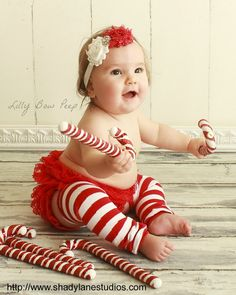 Candy Cane Red & White Stripe Leg Warmers with MATCHING Shabby Flower headband SET-Baby Girl Leggings-Outfit-Clothes-Christmas Outfit-Ribbon...