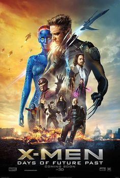 X-Men: Days of Future Past ~ The ultimate X-Men ensemble fights a war for the survival of the species across two time periods. ~ Starring: Hugh Jackman, Jennifer Lawrence, Michael Fassbender, James McAvoy and Ian McKellen Michael Fassbender, Hugh Jackman, Patrick Stewart, Ian Mckellen, Movies 2014, Man Movies, Watch Movies, Popular Movies, Latest Movies