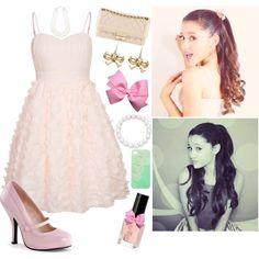 """Ariana Grande Style--Peach & Pearls"""