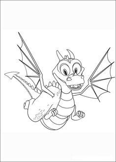 Desenhos para pintar Mike o Cavaleiro 15