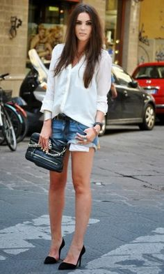 Look Camisa + Short Jeans