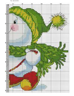 Snowman. Cross stitch.