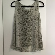 Snake print Tank.✳️ Never worn Sabine tank with snake print. Very light weight. Good for work or play. Reads gray. Sabine Tops Tank Tops