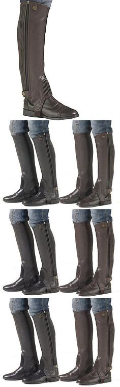 Gaiters Half Chaps 183383: New Ovation Boys Equistretch Ii Half Chaps - Brown - Size: 8-10 -> BUY IT NOW ONLY: $39.19 on eBay!